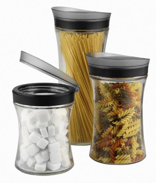 3tlg set vorratsdosen vorratsglas vorratsglÄser glas ... - Vorratsbehälter Küche
