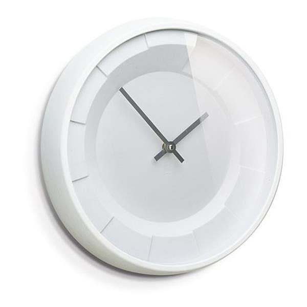32 cm design orologio da parete bianco soggiorno cucina plastica stazione ebay - Orologio parete cucina design ...