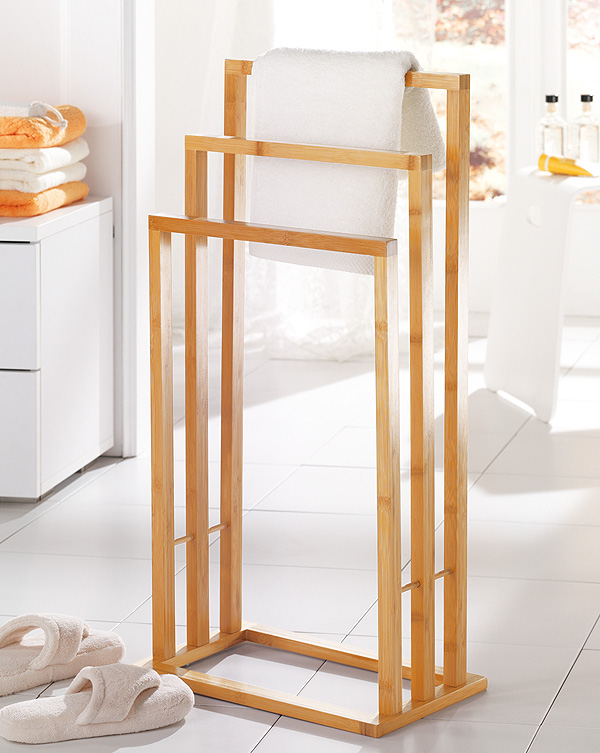 Handtuchhalter Holz bambus handtuchhalter handtuchstange badetuchhalter handtuchständer
