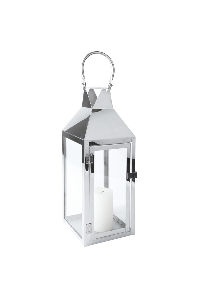 laterne edelstahl glas mit t r metall windlicht. Black Bedroom Furniture Sets. Home Design Ideas