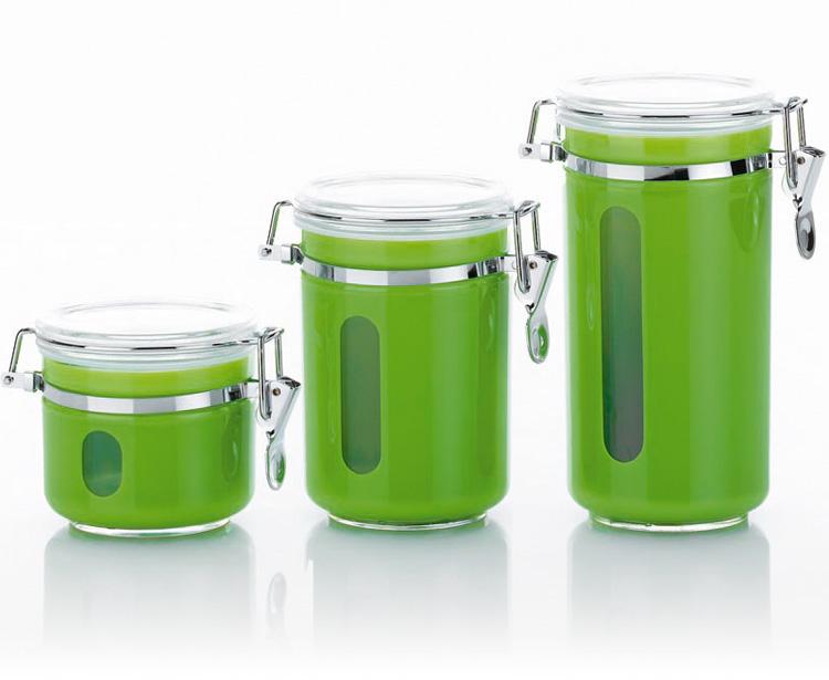 Vorratsbehälter 1 l vorratsglas vorratsdose vorratsbehälter acryl apfel grün