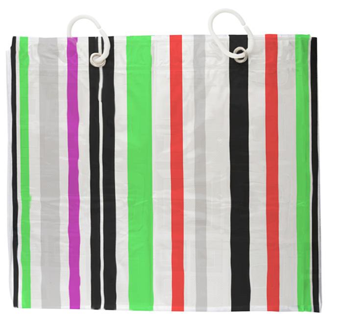 Design Shower Curtain Stripes 200x180 Bath Curtain Striped White Red Green Bl
