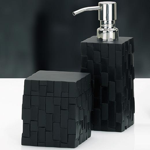 Seifenspender Set seifenspender seifenschale wc bürste becher wattedose garnitur bad