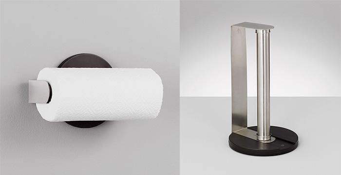 k chenrollenhalter edelstahl rollenhalter papierrollenhalter papierhalter ebay. Black Bedroom Furniture Sets. Home Design Ideas