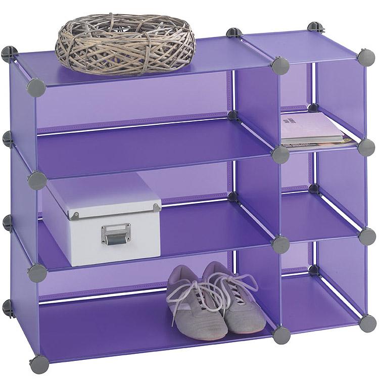 regal stecksystem raumteiler wandregal wand schrank honey cube regal ablage lila ebay. Black Bedroom Furniture Sets. Home Design Ideas