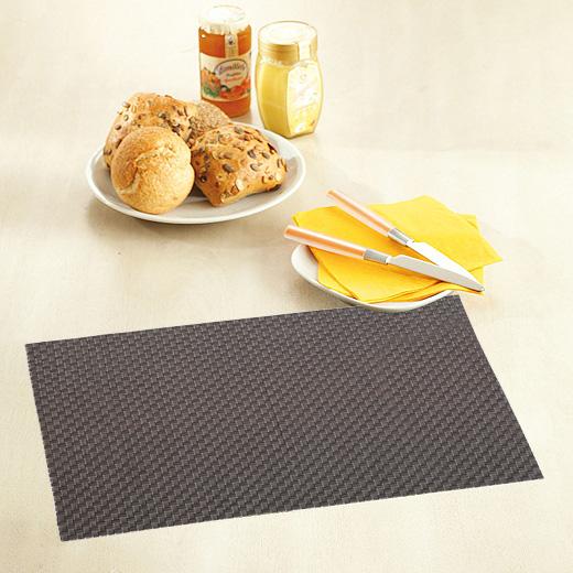 design tischset platzset platzmatte grau tisch set platz matte abwaschbar ebay. Black Bedroom Furniture Sets. Home Design Ideas