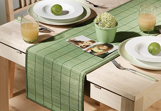 Tischlaufer Bambus Holz Tischdecke Tisch Laufer Grun Ebay