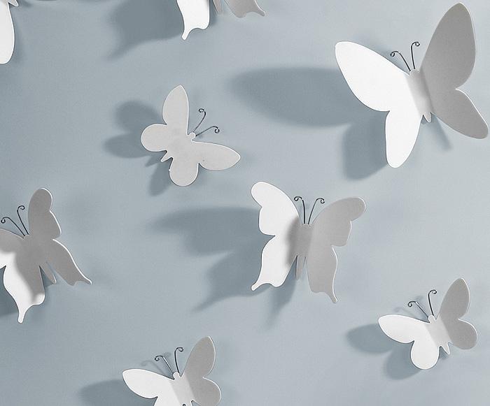 Deko Schmetterlinge Für Die Wand 3d wandtattoo wanddeko wandaufkleber deko schmetterling wand tattoo