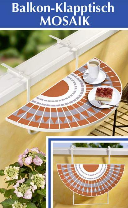 balkon klapptisch innenr ume und m bel ideen. Black Bedroom Furniture Sets. Home Design Ideas