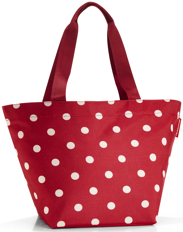 reisenthel shopper m einkaufstasche tasche rot ruby dots neu ebay. Black Bedroom Furniture Sets. Home Design Ideas