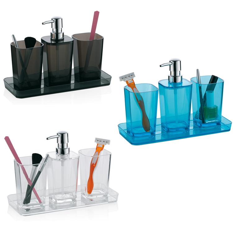 4tlg set da bagno distributore di sapone conchiglia tazza - Tazza da bagno ...
